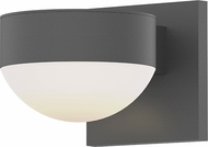 Sonneman 7302.PL.DL.74.WL REALS Contemporary Textured Gray LED Outdoor Sconce Lighting