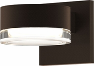 Sonneman 7302.PL.FH.72.WL REALS Contemporary Textured Bronze LED Outdoor Lighting Sconce