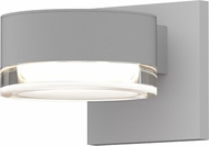 Sonneman 7302.PL.FH.98.WL REALS Contemporary Textured White LED Outdoor Wall Sconce Lighting