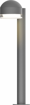 Sonneman 7304.DC.FH.74.WL REALS Contemporary Textured Gray LED Outdoor Pathway Lighting