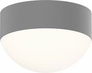 Sonneman 7309.XX.DL.74.WL REALS Contemporary Textured Gray LED Outdoor Flush Ceiling Light Fixture
