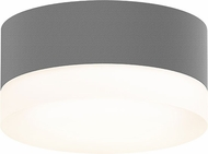 Sonneman 7309-XX-FW-74-WL REALS Contemporary Textured Gray LED Outdoor Ceiling Light