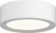 Sonneman 7309.XX.PL.98.WL REALS Contemporary Textured White LED Outdoor Flush Lighting