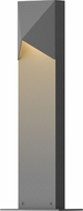 Sonneman 7321.74.WL Triform Compact Modern Textured Gray LED Exterior Landscape Lighting Fixture
