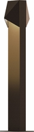 Sonneman 7326.72.WL Triform Compact Contemporary Textured Bronze LED Outdoor Landscape Lighting Design