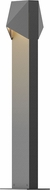 Sonneman 7326.74.WL Triform Compact Modern Textured Gray LED Exterior Landscape Lighting Fixture