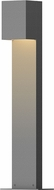 Sonneman 7342.74.WL Box Contemporary Textured Gray LED Outdoor Pathway Lighting