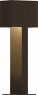 Sonneman 7345.72.WL Box Modern Textured Bronze LED Exterior Landscape Light Fixture