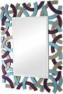 Sterling 114-68 Confetti Modern Purple & Blue & Smoke Mirror