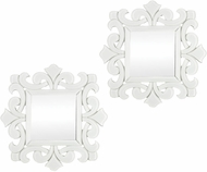Sterling 114-86-S2 Haylee White Wall Mirror - Set of 2