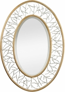 Sterling 114-98 Canonford Bright Silver & Gold Leaf Wall Mounted Mirror