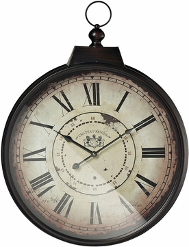 Sterling 118-043 Chateau Renier Antique Cream With Bronze Distressing Chateau Renier Clock With Bronze Metal Frame