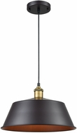 Sterling 1217-1001 Growler Modern Rust And Antique Brass Drop Lighting
