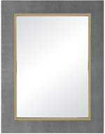 Sterling 1218-1003 Coral Metallic Grey Faux Leather With Gold Plated Stainless Steel Mirror