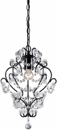 Sterling 122-005 Modern Black & Clear Finish Foyer Light Fixture