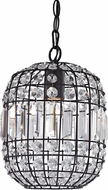 Sterling 122-013 Maldon Dark Bronze With Clear Crystal Mini Pendant Light
