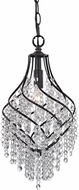 Sterling 122-018 Mowbray Dark Bronze With Clear Crystal Mini Pendant Lamp