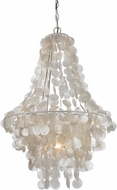 Sterling 122-025 Contemporary Mother Of Pearl Shell With White Foyer Lighting