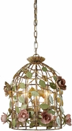 Sterling 123-006 Contemporary Butterscotch & Pink & Green Finish Hanging Light
