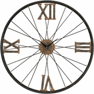 Sterling 129-1088 Rock Lawn Rust & Bronze Iron Wall Clock