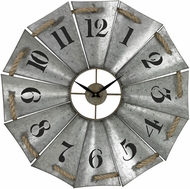 Sterling 129-1091 Priory Road Galvanized Metal & Natural Rope Aluminum And Rope Wall Clock