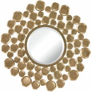 Sterling 132-003 Beattystown Modern Gold Leaf Wall Mirror