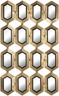 Sterling 132-008 Donaskeigh Contemporary Gold Leaf & Black Wall Mounted Mirror