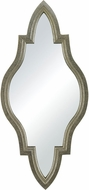 Sterling 138-066 Jacarand Silver Leaf & Light Antique Wash Mirror