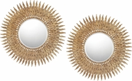 Sterling 138-097-S2 Feather Gold & Dark Bronze Wall Mounted Mirror - Set of 2