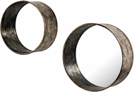 Sterling 138-127-S2 Oil Drum Mottled Silver & Gold Wall Mirror - Set of 2