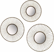 Sterling 138-182-S3 Modern Bronze With Antique Lacquer Wall Mirror - Set of 3