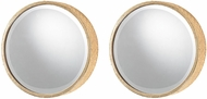 Sterling 138-184-S2 Honeycomb Gold Mirror - Set of 2