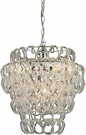 Sterling 144-007 Torvean Contemporary Clear & Chrome Hanging Light Fixture