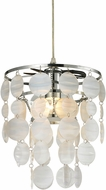 Sterling 144-020 Contemporary Pearlescent White Mini Ceiling Light Pendant
