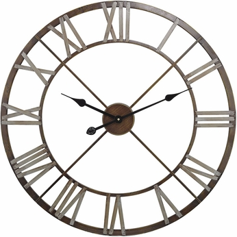 Sterling 171-012 Bronze With Grey Open Center Iron Wall Clock