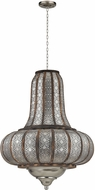 Sterling 172-005 Nickel With Wood Foyer Lighting Fixture