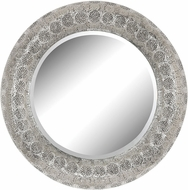 Sterling 172-014 Embossed Metal Nickel Wall Mounted Mirror