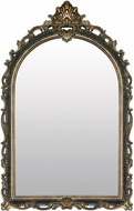 Sterling 26-5545M Arched Acanthus Distressed Black & Gold Wall Mirror