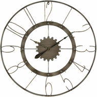Sterling 3138-429 Calibre Retro Grey Iron And Antique Wall Clock