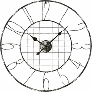 Sterling 3138-430 Fleet Vintage Grey Iron And Distressed Silver Wall Clock