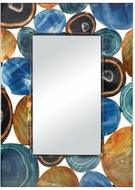 Sterling 3206-002 Demetrios Contemporary Printed Agate Wall Mirror