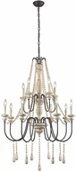 Sterling 3215-006 Sommi�res Traditional Antique French Cream With Dark Bronze Chandelier Light