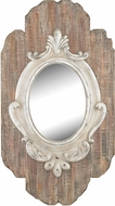 Sterling 326-8699 Villeneuve Weathered Wood & Antique Cream Mirror