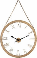 Sterling 326-8721 Geri Gold Leaf Wall Clock