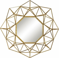 Sterling 351-10178 Geometric Wire Gold Wall Mounted Mirror