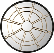 Sterling 351-10195 Nautical Window Black & Gold Mirror