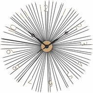 Sterling 351-10230 Shockfront Modern Gold & Black Shockfront Black and Gold 36-Inch Metal Wall Clock