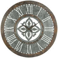 Sterling 351-10279 Greystone Retro Silver Wall Clock