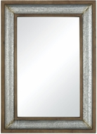 Sterling 351-10510 Laight Galvanized Steel And Medium Tone Distressed Oak Wall Mirror