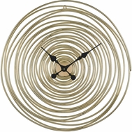Sterling 351-10537 Vortissimo Modern Gold Wall Clock